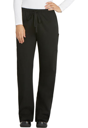 Dickies Chef Women's Elastic Drawstring Low Rise Pant in Black (DC17-BLK)