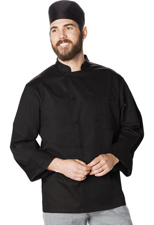Dickies Chef Unsiex Cool Breeze Chef Coat in Black (DC410-BLK)