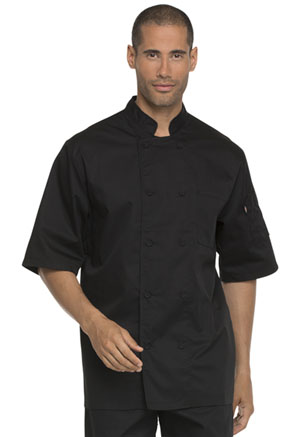 Dickies Chef Unisex Cool Breeze Chef Coat in Black (DC412-BLK)