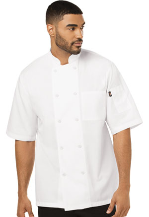 Dickies Chef Unisex Cool Breeze Chef Coat in White (DC412-WHT)