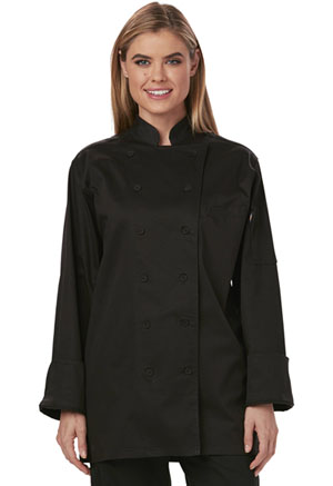 Dickies Chef Women's Executive Chef Coat in Black (DC413-BLK)
