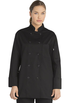 Dickies Chef Women's Classic Chef Coat in Black (DC414-BLK)