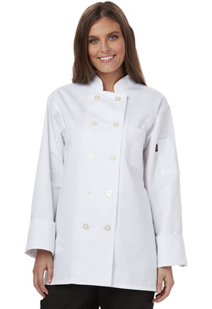Dickies Chef Women's Classic Chef Coat in White (DC414-WHT)