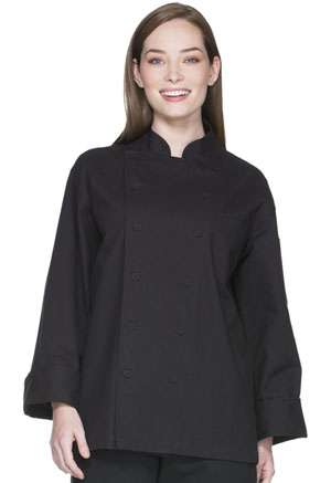 Dickies Chef Unisex Executive Chef Coat in Black (DC41B-BLK)