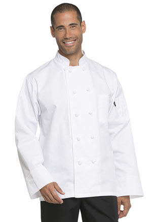 Dickies Chef Unisex Classic Knot Button Chef Coat in White (DC43-WHT)