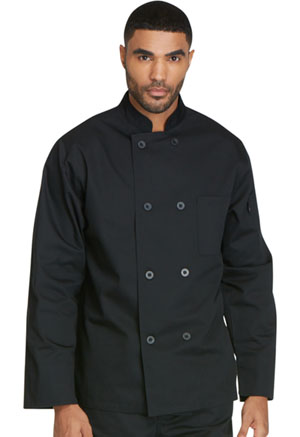 Dickies Chef Unisex Classic 8 Button Chef Coat in Black (DC45-BLK)