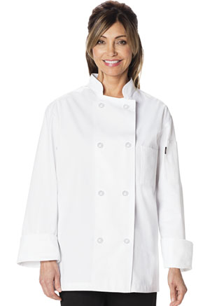 Dickies Chef Unisex Classic 8 Button Chef Coat in White (DC45-WHT)
