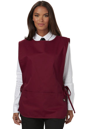 Dickies Chef Cobble Bib Apron with Tie Sides in Burgundy (DC50-BURG)