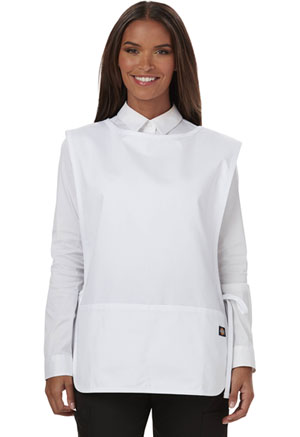 Dickies Chef Cobble Bib Apron with Tie Sides White (DC50-WHT)