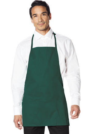 Dickies Chef Dickies Chef Unisex 3 Pocket Bib Apron with Adjustable Neck Green