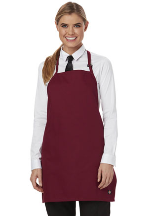 Dickies Chef Bib Apron with Adjustable Neck in Burgundy (DC52-BURG)