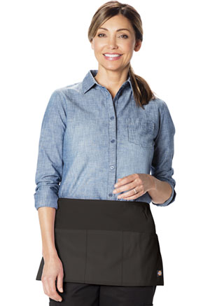 Dickies Chef 3 Pocket Server Waist Apron in Black (DC56-BLK)