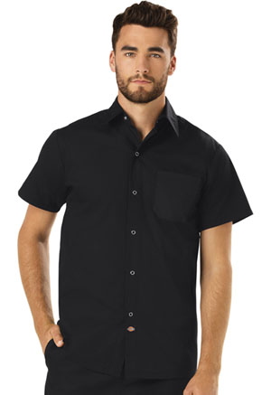 Dickies Chef Unisex Poplin Cook Shirt in Black (DC60-BLK)