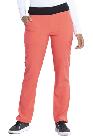 Dickies EDS Essentials Natural Rise Tapered Leg Pull-On Pant in Papaya Punch (DK005-PAPC)