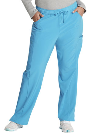 Dickies Mid Rise Straight Leg Drawstring Pant Blue Hawaii (DK010-BUHA)
