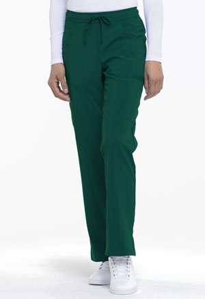 Dickies EDS Essentials Mid Rise Straight Leg Drawstring Pant in Hunter Green (DK010-HNPS)