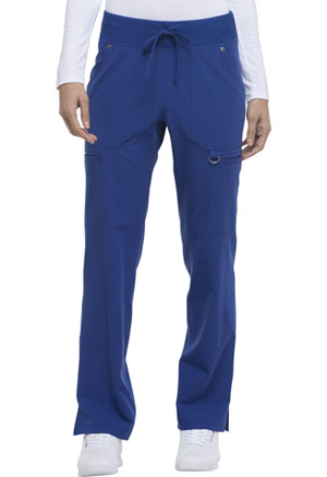 Dickies Xtreme Stretch Mid Rise Rib Knit Waistband Pant in Galaxy Blue (DK020P-GBLZ)