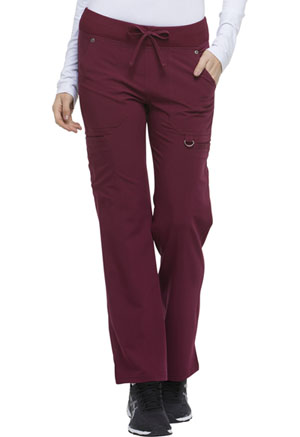 Dickies Xtreme Stretch Mid Rise Rib Knit Waistband Pant in D-Wine (DK020P-WINZ)