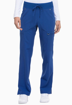 Dickies Xtreme Stretch Mid Rise Rib Knit Waistband Pant in Galaxy Blue (DK020-GBLZ)