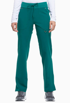 Dickies Xtreme Stretch Mid Rise Rib Knit Waistband Pant in Hunter (DK020-HTRZ)