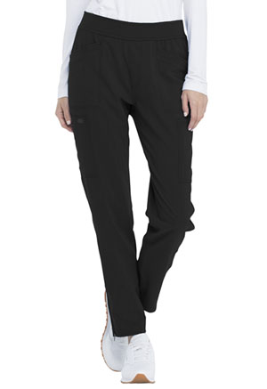 Dickies Advance Solid Tonal Twist Mid Rise Tapered Leg Pull-on Pant in Black (DK030P-BLK)