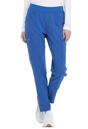 Dickies Advance Solid Tonal Twist Mid Rise Tapered Leg Pull-on Pant in Royal (DK030P-ROY)