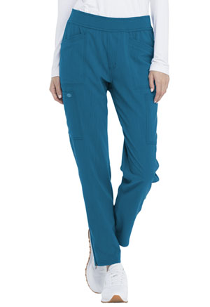 Dickies Advance Solid Tonal Twist Mid Rise Tapered Leg Pull-on Pant in Caribbean Blue (DK030-CAR)