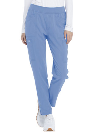 Dickies Advance Solid Tonal Twist Mid Rise Tapered Leg Pull-on Pant in Ciel Blue (DK030-CIE)