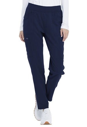 Dickies Advance Solid Tonal Twist Mid Rise Tapered Leg Pull-on Pant in D-Navy (DK030-NVYZ)