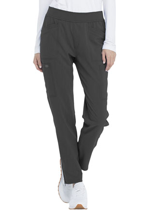 Dickies Advance Solid Tonal Twist Mid Rise Tapered Leg Pull-on Pant in Pewter (DK030-PWT)