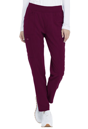 Dickies Advance Solid Tonal Twist Mid Rise Tapered Leg Pull-on Pant in Wine (DK030-WIN)