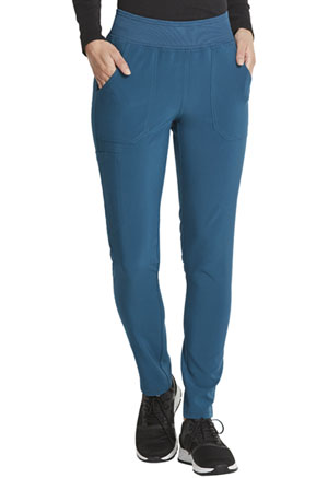 Dickies EDS Essentials Mid Rise Tapered Leg Pull-on Pant in Caribbean Blue (DK090-CAPS)