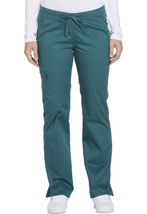 Dickies Gen Flex Low Rise Straight Leg Drawstring Pant in Hunter (DK100-HTRZ)