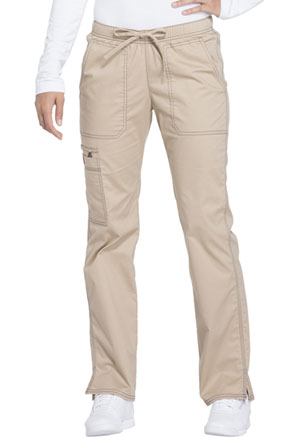 Dickies Gen Flex Low Rise Straight Leg Drawstring Pant in Dark Khaki (DK100-KHIZ)