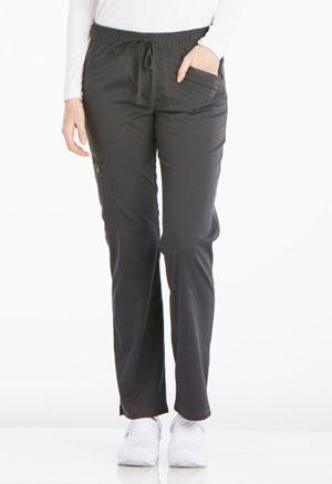 Mid Rise Straight Leg Drawstring Pant (DK106P-PWT)