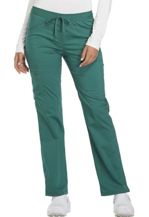 Mid Rise Straight Leg Drawstring Pant (DK106T-HUN)