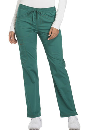 Dickies Essence Mid Rise Straight Leg Drawstring Pant in Hunter Green (DK106-HUN)