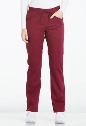 Dickies Essence Mid Rise Straight Leg Drawstring Pant in Wine (DK106-WIN)