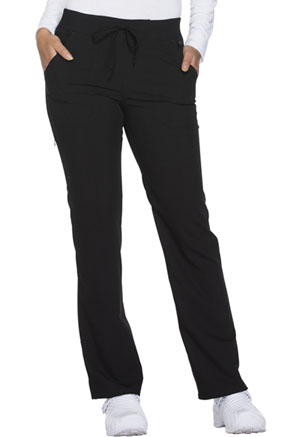 Dickies Xtreme Stretch Mid Rise Straight Leg Drawstring Pant in Black (DK112-BLKZ)