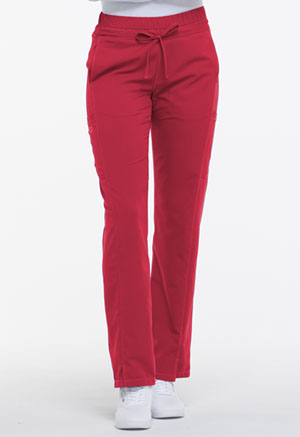 Mid Rise Straight Leg Drawstring Pant (DK130P-RED)