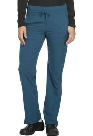 Dickies Dynamix Mid Rise Straight Leg Drawstring Pant in Caribbean Blue (DK130-CAR)