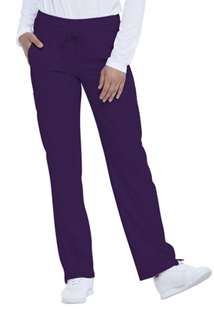 Dickies Dynamix Mid Rise Straight Leg Drawstring Pant in Eggplant (DK130-EGG)