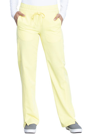 Dickies Dynamix Mid Rise Straight Leg Drawstring Pant in Lemon Twist (DK130-LETW)