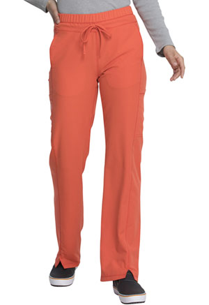 Dickies Dynamix Mid Rise Straight Leg Drawstring Pant in Tangelo (DK130-TNGL)