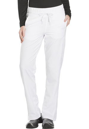 Dickies Dynamix Mid Rise Straight Leg Drawstring Pant in White (DK130-WHT)