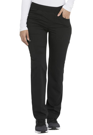 Dickies Balance Mid Rise Straight Leg Pull-on Pant (DK135-BLK) (DK135-BLK)