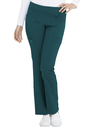 Dickies Balance Mid Rise Straight Leg Pull-on Pant in Caribbean Blue (DK135-CAR)