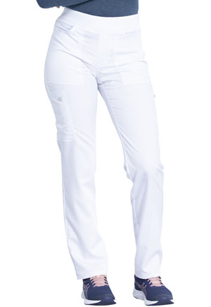 Dickies Balance Mid Rise Straight Leg Pull-on Pant in White (DK135-WHT)