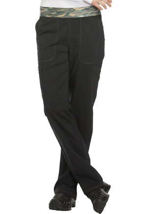 Essence Mid Rise Tapered Leg Pull-on Pant (DK140P-BLK) (DK140P-BLK)
