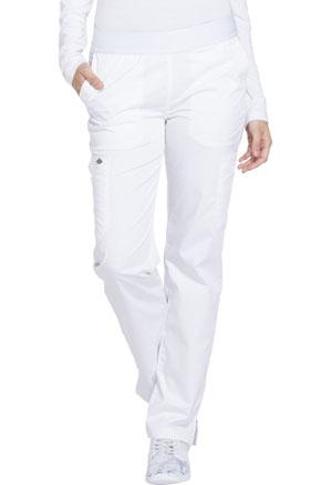 Mid Rise Tapered Leg Pull-on Pant (DK140T-WHT)